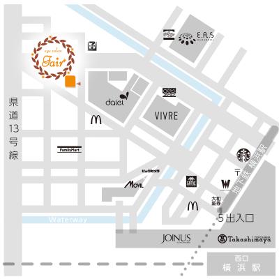 アイサロン・フェア 横浜店へのアクセスマップ